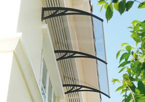 Alero de PVC listo para puertas y ventanas