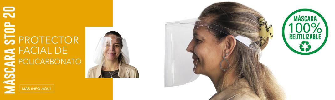 Máscara facial Stop