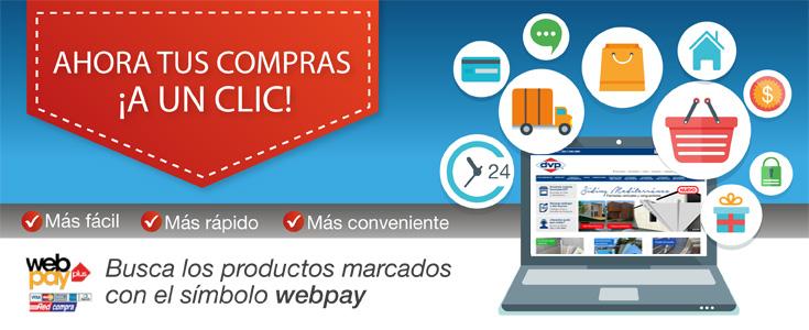 ¡Ahora tus compras a un clic! Compra con Webpay