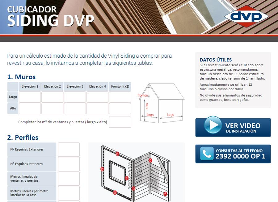 Necesita calcular la cantidad de revestimiento Siding DVP para su nueva Casa o Ampliación?