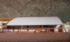 Techumbre con PVC industrial Palruf gimnasio Minera Caserones