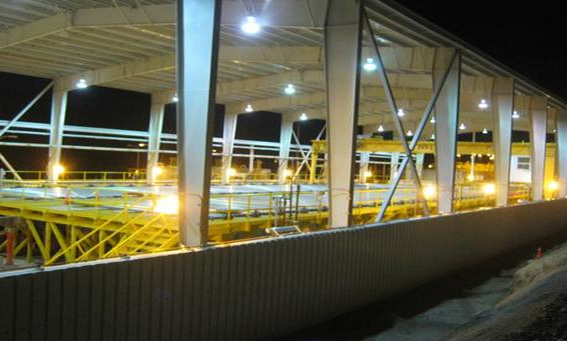 PVC Industrial Palruf en galpón Minera Tres Valles