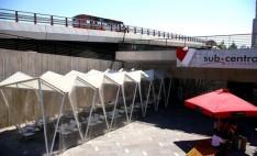 Policarbonato alveolar en estación de metro Escuela Militar