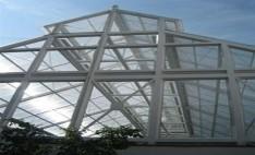 Policarbonato Alveolar en terraza invernadero