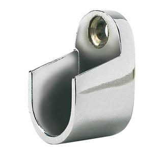 Soporte barra oval metal cromado
