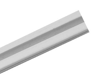 Riel puerta corredera aleta blanco 3m en accesorios para for Riel puerta corredera