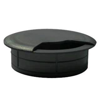 Pasacable redondo negro bolsa 100 un