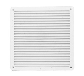 Celosía ventilación plana 17x17 blanca