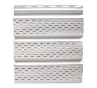 Panel alero perforado blanco