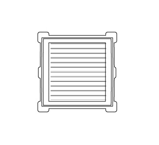 Celosía cuadrada 12x12 d blanco