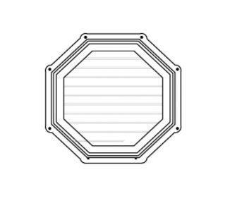Celosía octagonal 18 d blanco