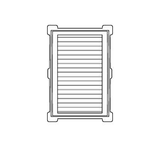 Celosía rectangular 18x24 d blanco