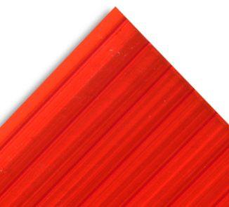 Policarbonato alveolar 2100x11600x10mm rojo