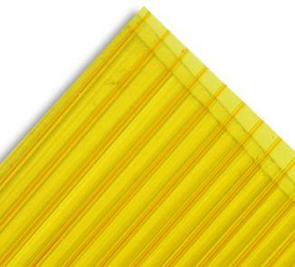 Policarbonato alveolar 2100x11600x4mm amarillo