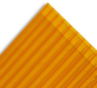Policarbonato alveolar 2100x5800x6mm naranjo