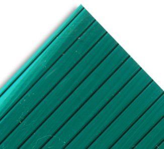 Policarbonato alveolar 2100x5800x6mm verde