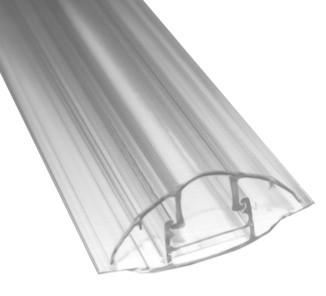 Perfil concetor hcp 3m base y tapa transparentes 6-8mm
