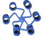 Seguro de tuercas corto azul