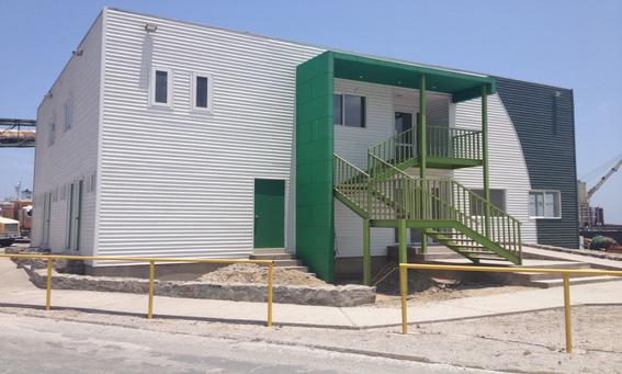Siding DVP en oficinas de operaciones Tocopilla, Antofagasta