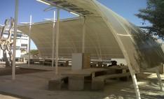 Policarbonato Alveolar en Plaza punto de encuentro Universidad Antofagasta