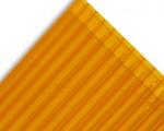 Policarbonato alveolar 2100x11600x4mm naranjo