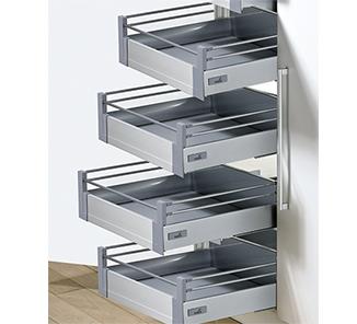Kit despensa puerta 4 innotech plata f500 interior 4 for Herrajes y accesorios para muebles