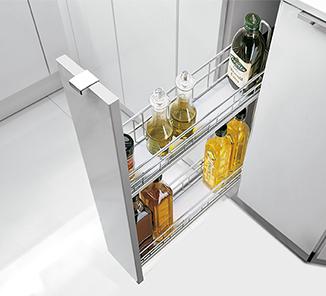 Especiero base classic 2 niveles 150mm plata caj 1u en - Accesorios para armarios de cocina ...