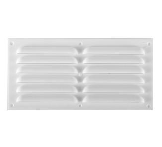 Celosía ventilación plana 30x15cm  blanca