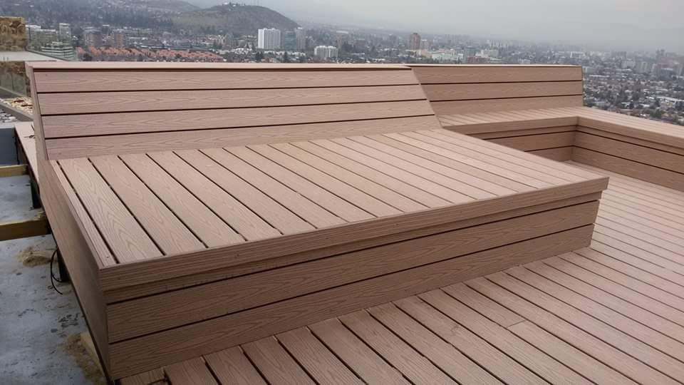 Aplicaci n de deck en terraza con jacuzzi proyectos - Terrazas con jacuzzi ...