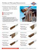 Catálogo de Perfiles de PVC para Fibrocemento