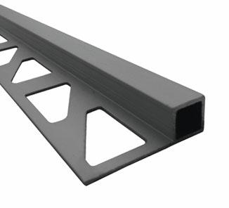 Esquinero para cerámica aluminio cuadrado 8mm