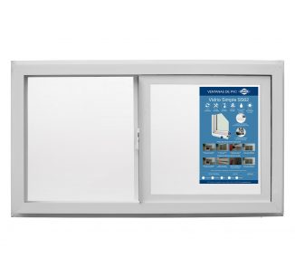 Ventana corredera Advance vidrio simple 91x50cm