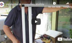 Instalación de mosquitero abatible para puertas