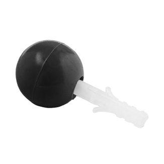 Tope Puerta Esferico Negro 20 Un C/ Tornillo img