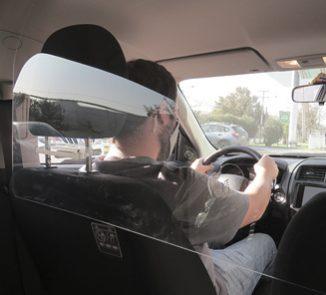 Escudo sanitario automotriz SUV 1200x450mm